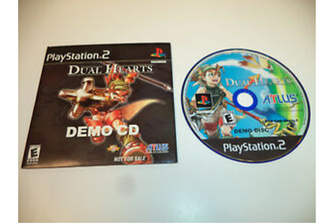 Dual Hearts by Atlus Demo CD For PlayStation 2 Game System ...