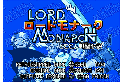 Lord Monarch: Tokoton Sentō Densetsu on Qwant Games