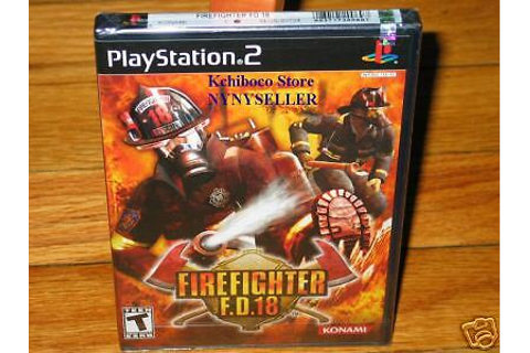Fire Fighter Firefighter FD F.D.18 PS2 PS3 NEW Sealed ...