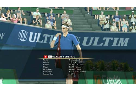 Smash Court Tennis 3 › Games-Guide