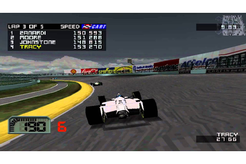 CART World Series Gameplay Single Race (PlayStation) - YouTube