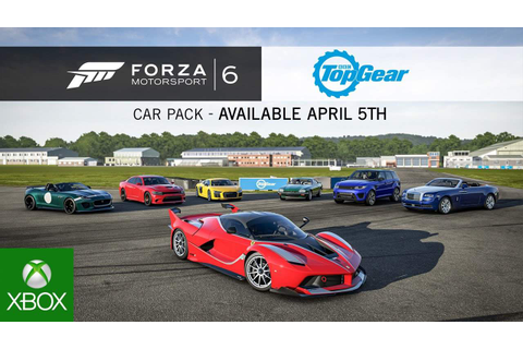 Le Top Gear Car Pack arrive dans Forza Motorsport 6