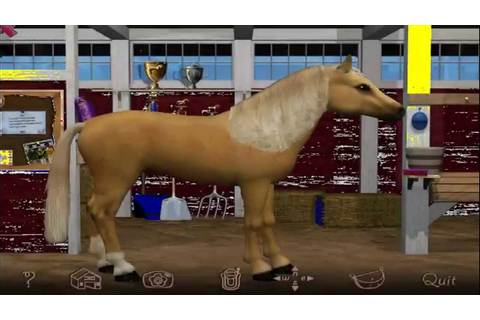 Barbie Riding Club Pc Game. How to care for a horse - YouTube