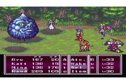 Breath of Fire 2 (SNES) Boss #18 Algernon - YouTube