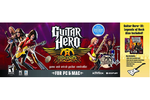 Guitar Hero: Aerosmith Game & Guitar Controller Bundle ...