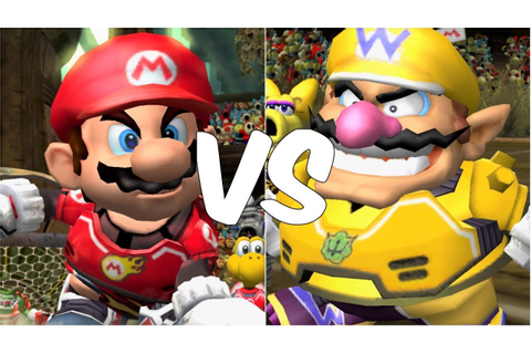 Mario Strikers Charged - Mario vs Wario - Wii Gameplay ...