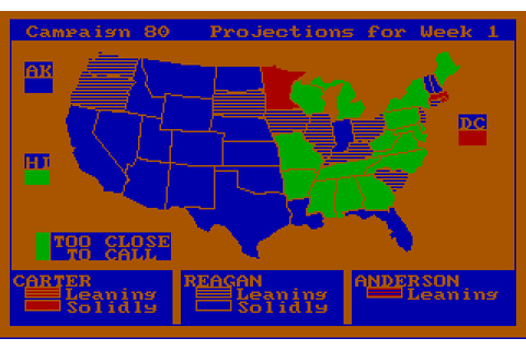 Download President Elect simulation for DOS (1987 ...