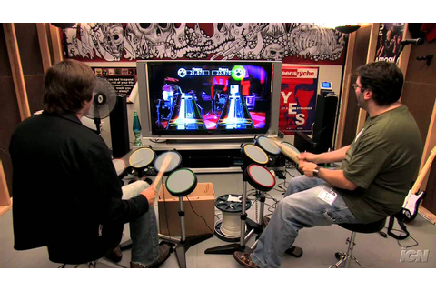 Rock Band (game only) Xbox 360 Gameplay - Drum-Off: - YouTube