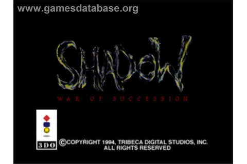 Shadow: War of Succession - Panasonic 3DO - Games Database