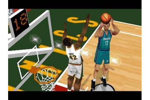 NBA Live 98 (1998) Game - Seattle Supersonics vs Charlotte ...