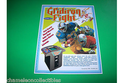 GRIDIRON FIGHT By TEHKAN 1985 VIDEO ARCADE GAME MACHINE ...
