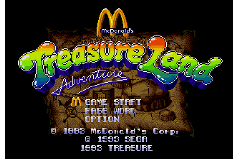 Super Adventures in Gaming: McDonald's Treasure Land ...