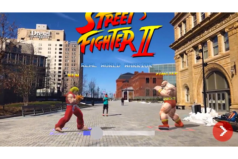 Street Fighter II in the real world - YouTube