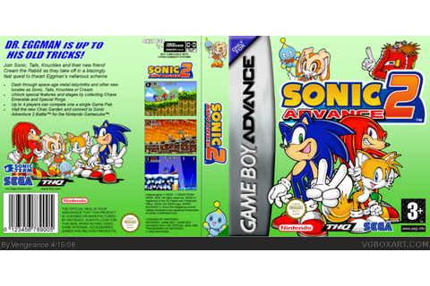 Sonic Advance 2 Game Boy Advance Box Art Cover by Vengeance