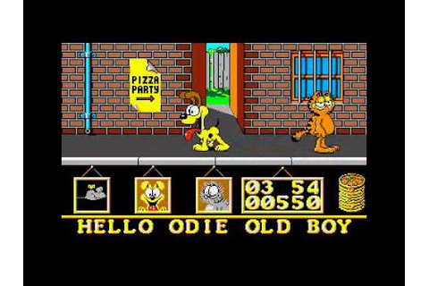 Atari ST Longplay Garfield Big, Fat, Hairy Deal - YouTube