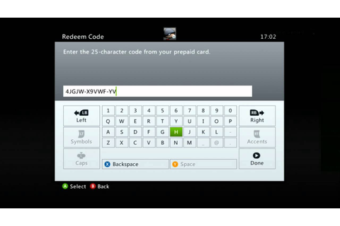 How To Reedem Your Xbox 360 Digital Game Code On Xbox Live ...