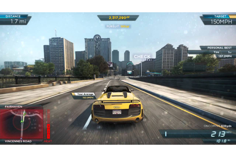 NFS Most Wanted 2012: 'Downtown Run' Speed Run 186.1mph ...