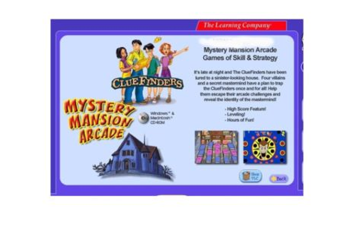 ClueFinders Mystery Mansion Arcade