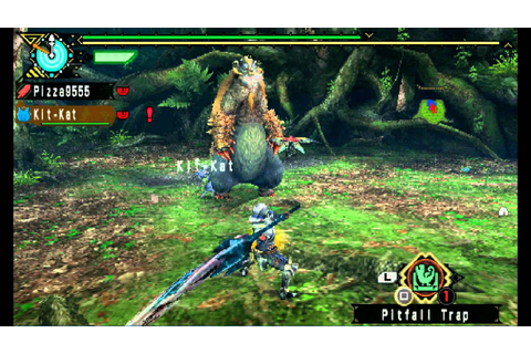 Monster Hunter Freedom 3 Game play - English - PSP - YouTube