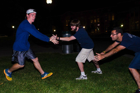 Glow-in-the-dark capture the flag lights up campus ...
