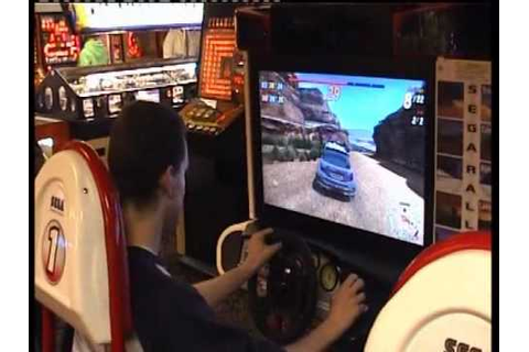 Arcade Live Action - Sega Rally 3 - YouTube