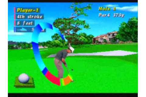 Pebble Beach Golf Links Game Sample - Sega Saturn - YouTube