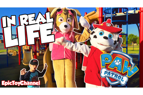 PAW PATROL IN REAL LIFE Marshall & Skye Race At Park, Pup ...