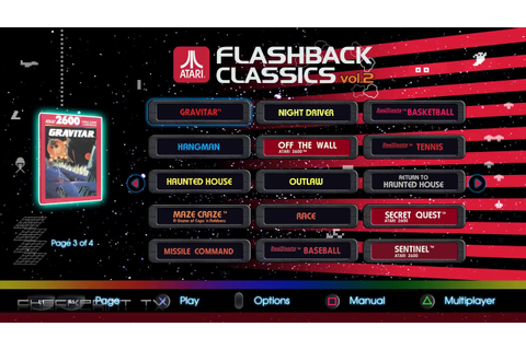 Atari Flashback Classics Vol. 2 - Arcade Games Gameplay ...