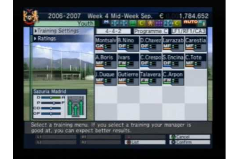 Let's Make a Soccer Team! [Playstation 2] Overview Part 2 ...