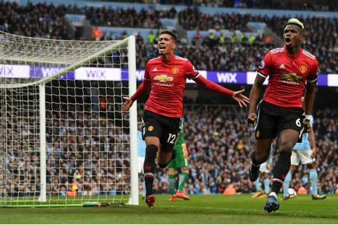 Man City 2-3 Man United result, Premier League 2017-18 ...