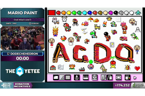 Mario Paint by dodechehedron in 4:28 - Awesome Games Done ...