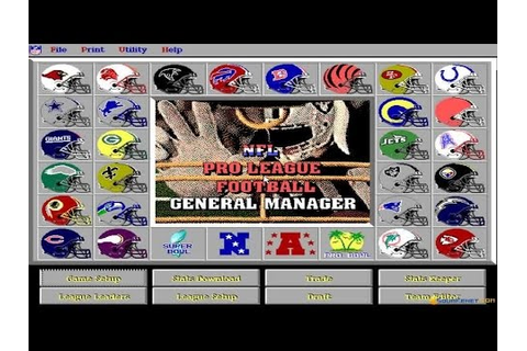 NFL Pro League Football (1995 version) gameplay (PC Game ...