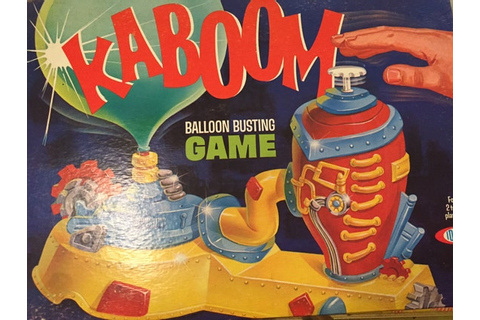 1965 // KABOOM BALLOON Busting Game // IDEAL Brand Game