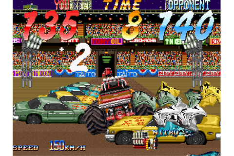 Double Axle arcade video game by Taito America (1991)