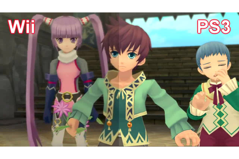 Tales of Graces Wii VS PS3 (Graphics) - YouTube