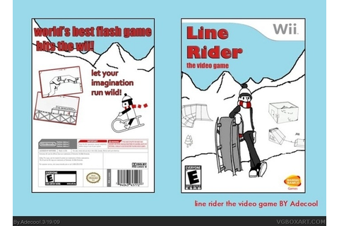 Line rider the video game Wii Box Art Cover by Adecool