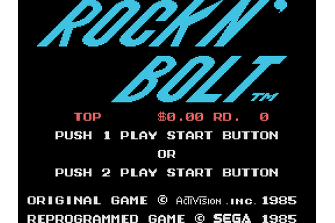 Rock n' Bolt (1985) by Sega SG-1000 game