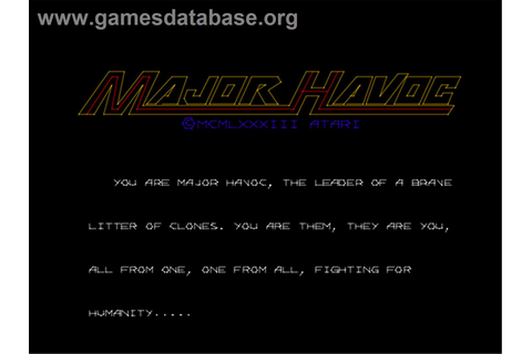 Major Havoc - Arcade - Games Database