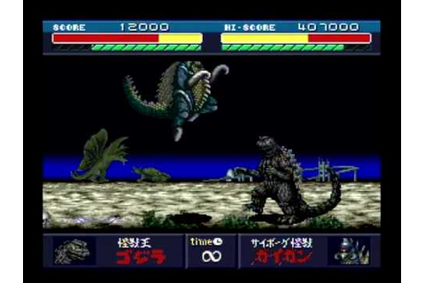 Godzilla: Battle Legends - Godzilla vs Gigan - YouTube