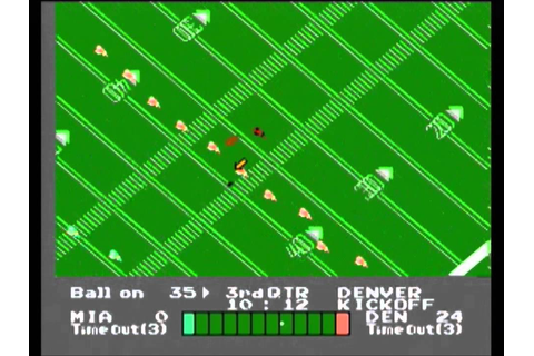 NES Play Action Football (NES) gameplay - Denver @ Miami ...