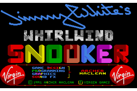 Jimmy White's Whirlwind Snooker (1991) by Virgin Games ...
