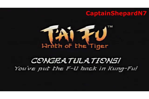 T'ai Fu: Wrath of the Tiger End Credits (PS1) - YouTube
