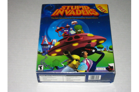 Stupid Invaders (PC, 2001) Rare Pop-Up Big Box Version | eBay