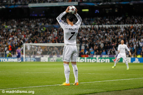 Cristiano Ronaldo throw-in. www.madridismo.org | Cristiano ...
