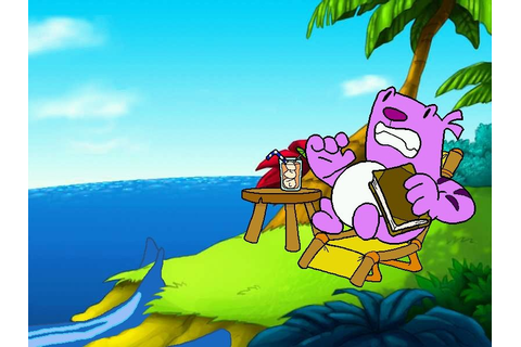 Moop and Dreadly in the Treasure on Bing Bong Island ...