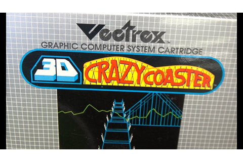 Classic Game Room - 3D CRAZY COASTER review for Vectrex ...