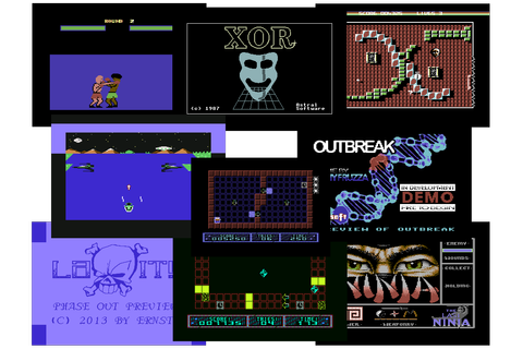 C64 Game: XOR +7DS / Tork Fighter-8 + / Outbreak Preview ...