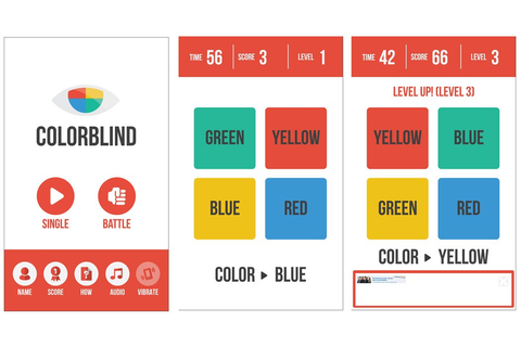 Colorblind - a fast paced, reaction-styled game for ...