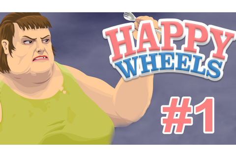 FINALLY A PC GAME! (HAPPY WHEELS) (PART ONE) - YouTube