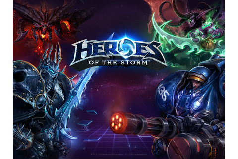 Heroes of the Storm screenshots show various characters ...